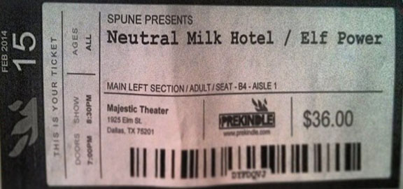 Neutral Milk Hotel, Dallas, Jeff Mangum