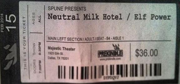 Neutral Milk Hotel, Dallas, Jeff Mangum